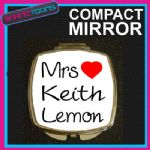LOVE KEITH LEMON MRS COMPACT LADIES METAL HANDBAG GIFT MIRROR